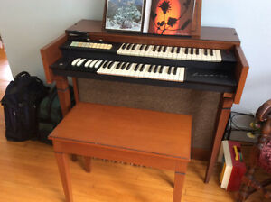 Classic organ with bench