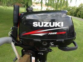 Suzuki 4 stroke 4 horse power outboard engine