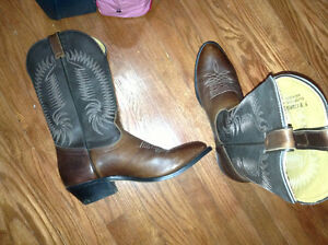 Mens Silver Rebel cowboy boots size 9 for sale