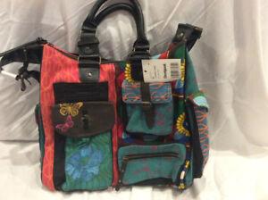 Desigual canvas shoulder handbag - NEW WITH TAGS