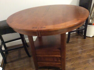 """Round 42"""" TABLE with extension stands 36"""""""