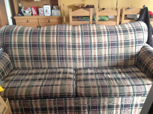 Free RCA TV, love seat and sofa bed.