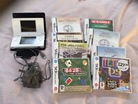 Nintendo DS, charger and 8 games