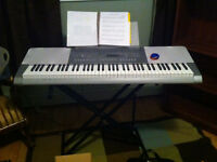 Casio Keyboard with stand and seat
