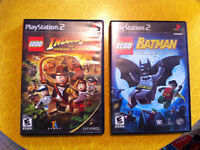 Jeux ps2 lego Batman et Indiana Jones