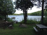 Chalet bord de lac basse Laurentides