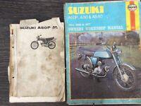 Suzuki AP50 Haynes manual and genuine parts manual.