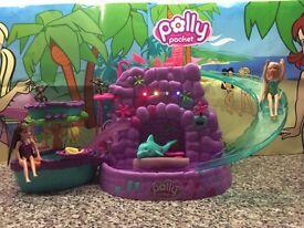Polly Pocket purple waterfall set