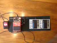 BOSS RC-2 LOOP PEDAL WITH 2 BOSS FS-5U PEDALS