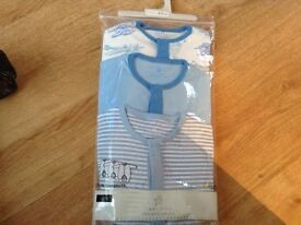 New next pack of 3 boys baby grows 6-9 months