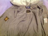 Superdry large hooded grey jacket