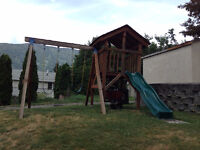 Play Fort with Swings and Slide