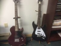 Electric guitars and bass guitar for sale