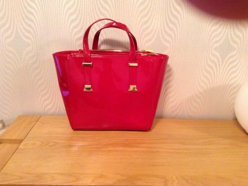 Genuine Ted Baker red patent bag