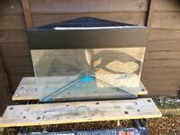 All glass corner aquarium vivarium fish tank