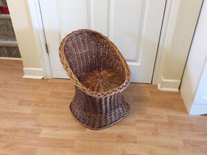 Vintage Early Mid Century Child's Rattan Chair
