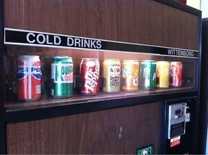 Vending machine for cans