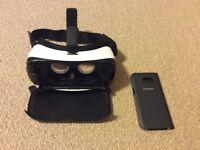 Genuine Samsung VR goggles and genuine S7 edge flip case
