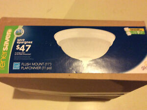 """11"""" flush mount ENERGY STAR light with bulb included"""