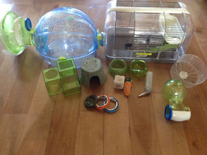 Hamster cage and accessories and Hamster
