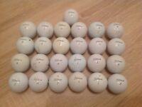 25 TITLEIST PRO V1 GOLF BALLS