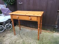 Pine console hall table