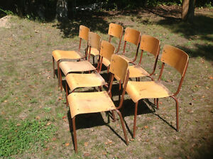 """Stacking """"chuch"""" chairs"""