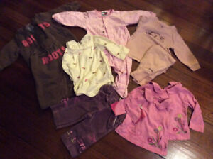 Lot of baby girl clothes, size 6-12 months NT