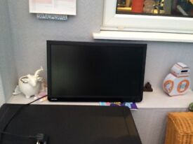 21inch tv with fixed wall bracket and remote control