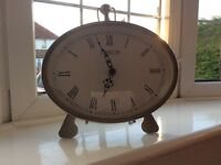Large mantle clock, silver