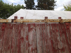 Red Large Barn Door