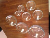 8 piece glass bowl set