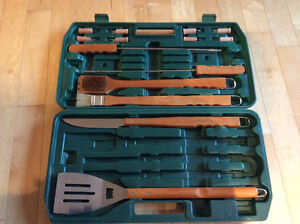 Deluxe BBQ Tool Set, in carrying case