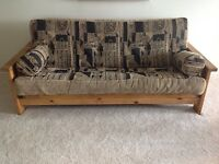 REAL WOOD FUTON (with side table)