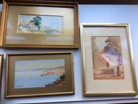 Job lot original water colour paintings- 6 in total