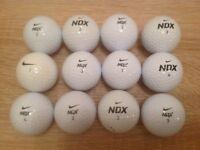 12 NIKE NDX TURBO GOLF BALLS