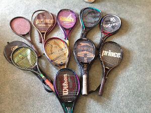 Vast assortment of Top QUALITY tennis racquets....