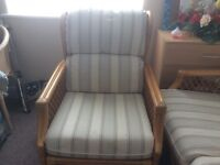 Wicker 2 seater sofa and chair