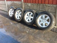 """4 Mitsubishi l200 18"""" alloy wheels and tyres"""