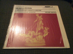 Disque vinyle Mendelssohn, a midsummer night's dream