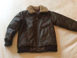 GAP size 5 faux leather bomber jacket