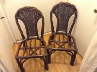 2 rattan chairs in good condition