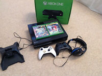 Xbox one in perfect condition not used much fully working willing to negotiate price
