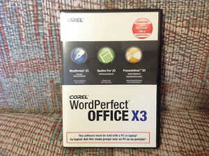 Corel Word Perfect Office X3 AND Windows Ugrade CDs