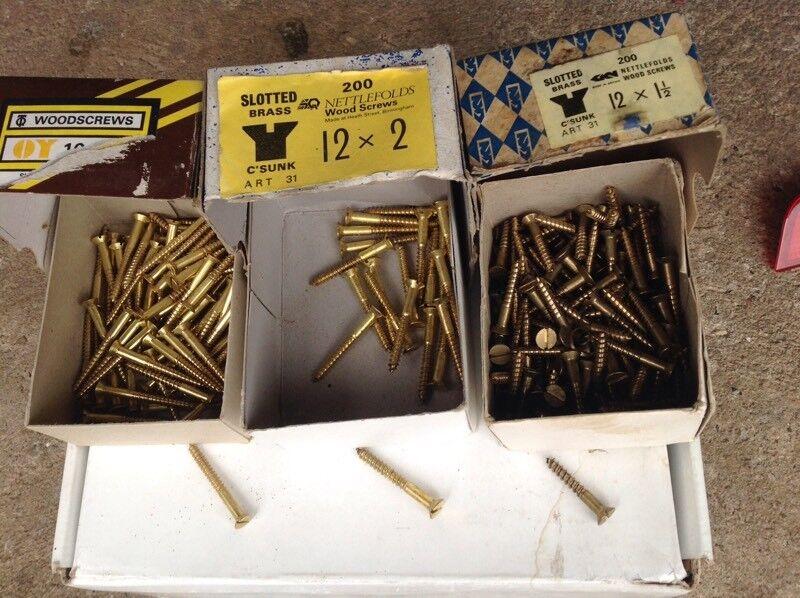 Assorted Brass Screws
