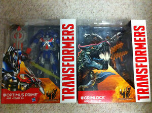 Transformers Movie 4 Optimus Prime Grimlock 3 figures OBO