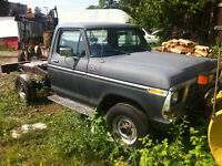 1978 Ford F250 for parts Meyers plow 4x4