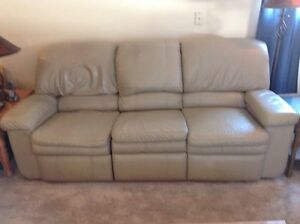 Used Lazy Boy leather couch, chair, love seat.