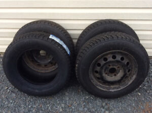 185/70/14 Arctic Weather Winter tires (4) used 1 Week like new