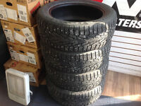 235/55/r18 snow tires with studs $360 installed